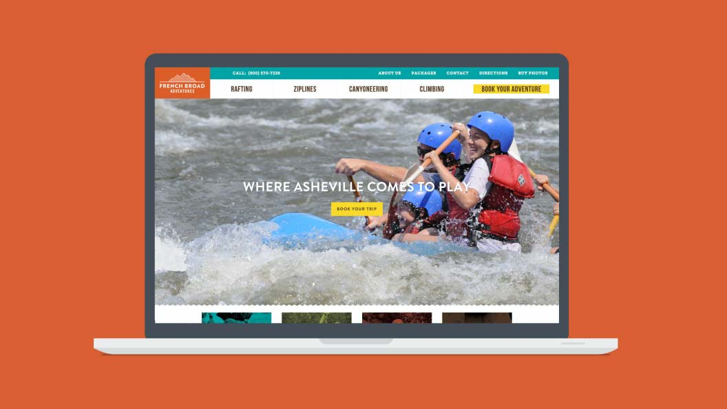 French Broad Adventures website home page