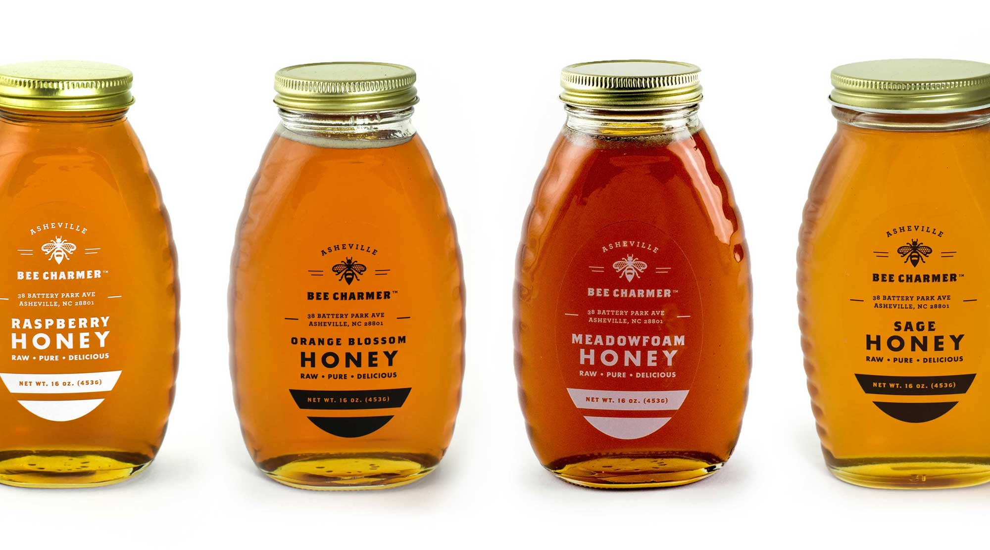 Asheville Bee Charmer Honey Labels