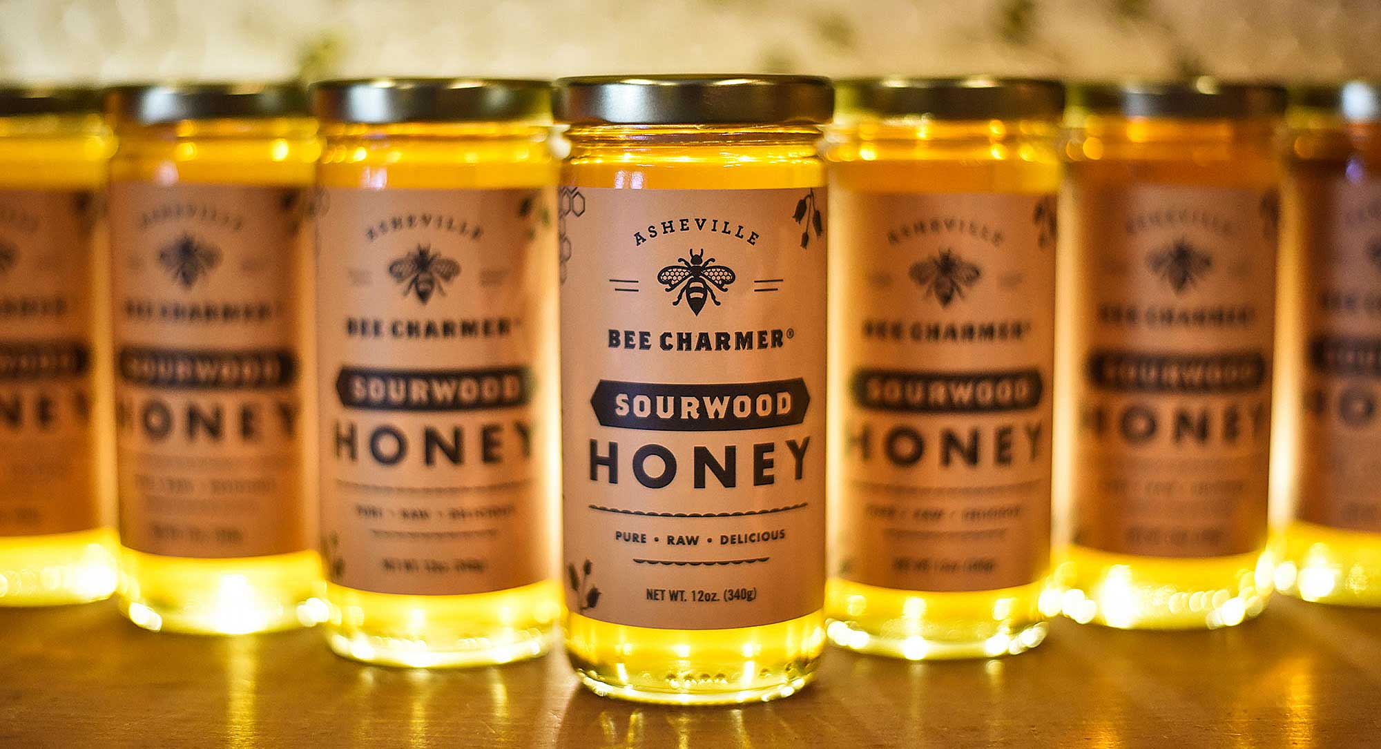 Sourwood honey label design